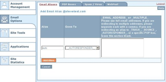 Account Manager Email Alias