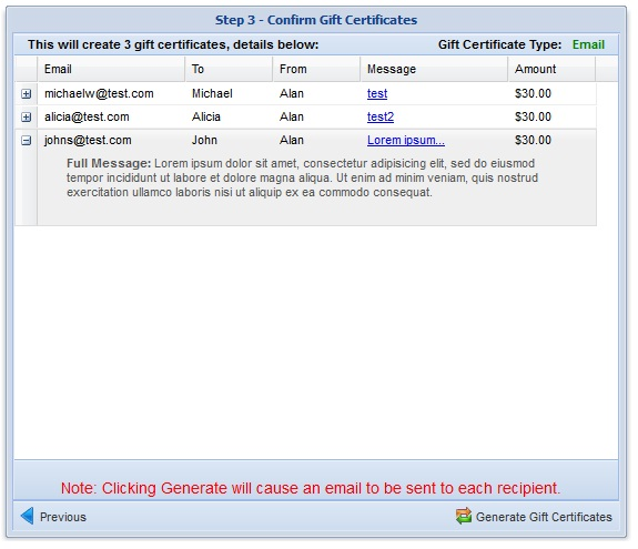 Gift Certificate Module Step 3 Image